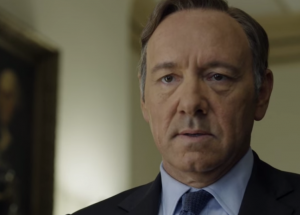 Kevin Spacey in House of Cards being turned down for Secretary of State