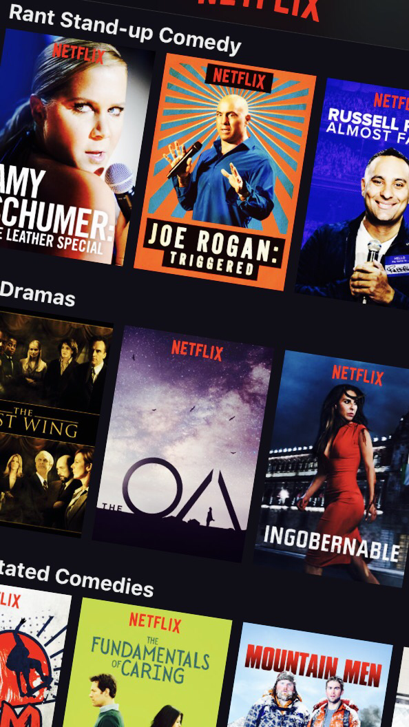 Rant standup comedy category on Netflix