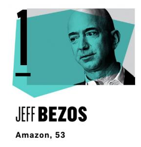 Jeff Bezos is #1 on Vanity Fair's list
